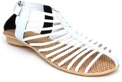 A La Mode Girls White Sandals