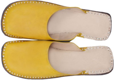 Paavdi Girls Yellow Flats