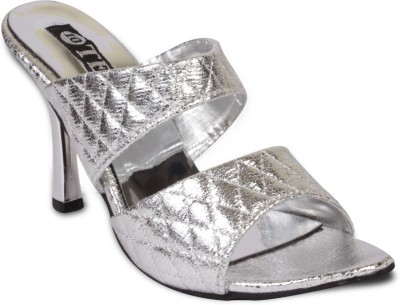 TEN Women Silver Heels