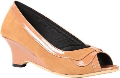 Butterfly Women Beige Heels