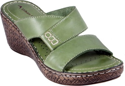 Urban Country Women Green Wedges
