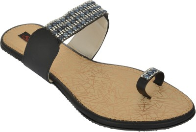 Exotique Women Black Flats