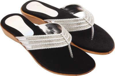 Royal Collection Women Silver Flats