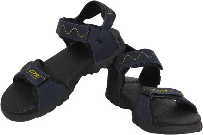TFW Men Black, Blue Sandals
