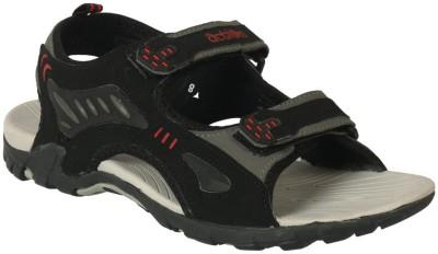 Action Shoes Men Black, Grey Sandals