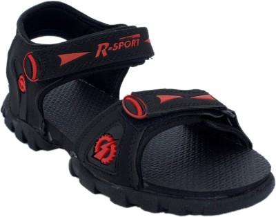 Corpus Men Black, Red Sandals