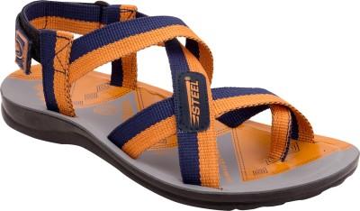 Steel Men Orange Sandals
