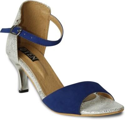 TEN Women Blue, Silver Heels
