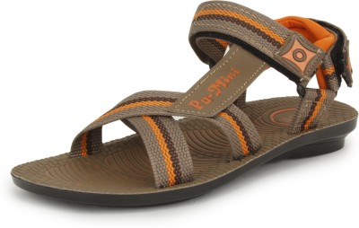 Pu-Mini ST*R Men Camel Sandals