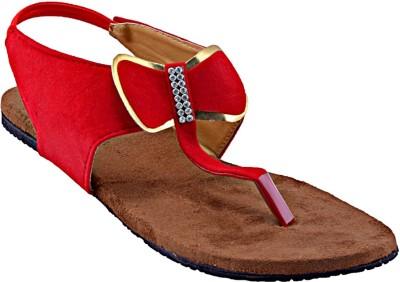 Relexop Women Red Flats