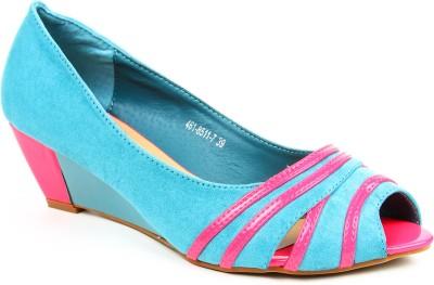 Jove Women Blue, Pink Wedges