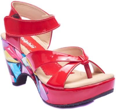Dolphin Miles Women Red Heels
