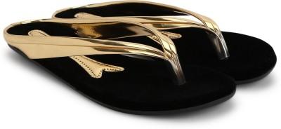 Jayn Martin Women Black, Gold Flats