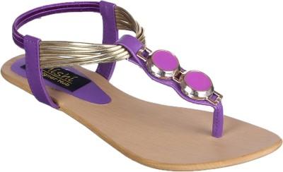 Mishe Designer Hub Women Purple Flats