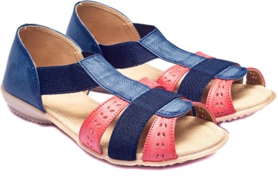 Foot Furnish Girls Pink, Navy, Beige, Maroon, Multicolor Flats