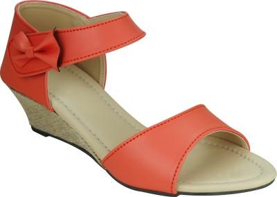 SMART TRADERS Girls Orange Sports Sandals