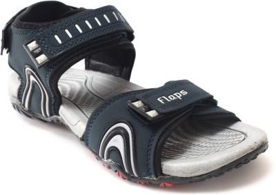 Flaps Men Navy, Grey Sandals