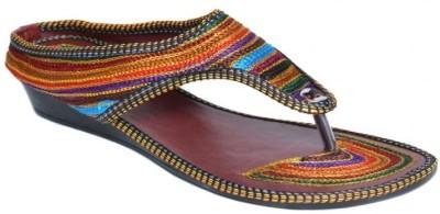 Indirang Women Multicolor Wedges