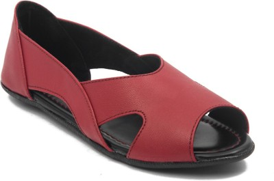 Adjoin Steps Women Maroon Flats
