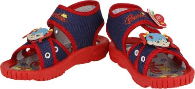 Buds N Blossoms Baby Girls Blue, Red Sandals
