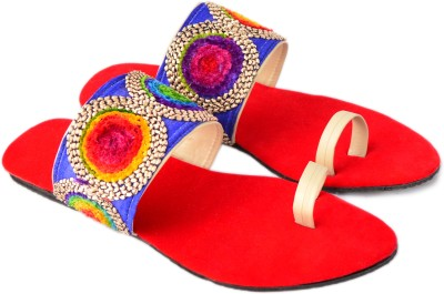 ROCK PASSION Women Red Flats