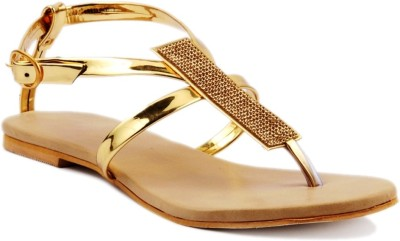 Foot Jewel Women Gold Flats
