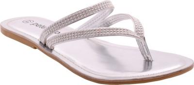 peterpapa Women Silver Flats