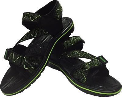 Evok Men Black Sandals