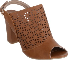 Shuz Touch Women BROWN Heels