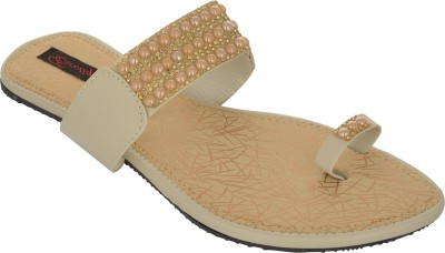 Exotique Women Beige Flats