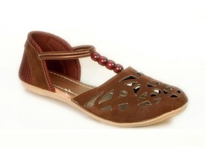 Jarwal Collection Women Brown, Brown Flats
