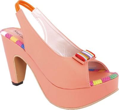 Modin Women Orange Heels