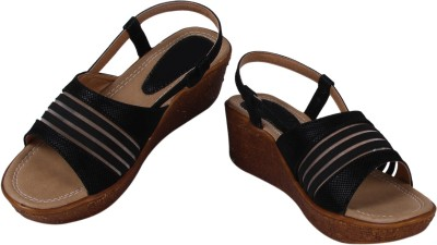 Arial Morris Women Black Wedges
