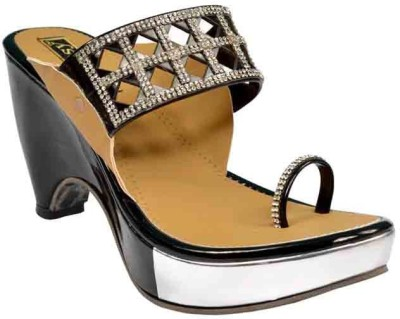 Glossy Women Black Flats