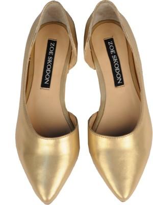 Zoe Skodon Women Gold Flats