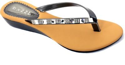Dazzl EVE Slip-on Women Grey Wedges
