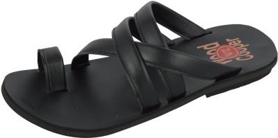 Wood Cooper Black Men Black Sandals