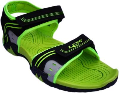 Lancer Boys Black, Green Sandals