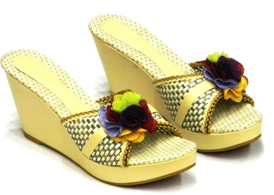 Celebrity Stylish Party and Casual Wear Girls Multicolor Wedges