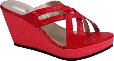 Soft & Sleek Girls Red Sandals