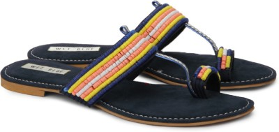 Wet Blue Women Women Navy, Multicolor Flats