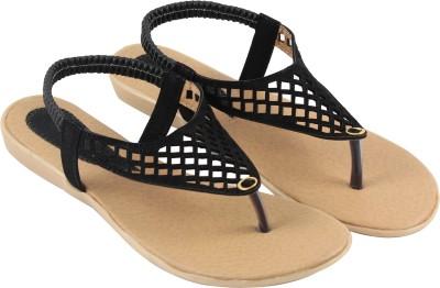 Fit2foot Women Black Flats