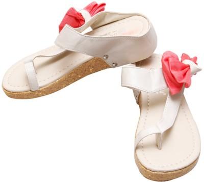 Gadget Women White, Pink Flats