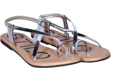 Naisha Women Silver Flats
