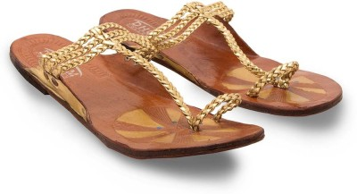 Tradition India Girls Gold Flats