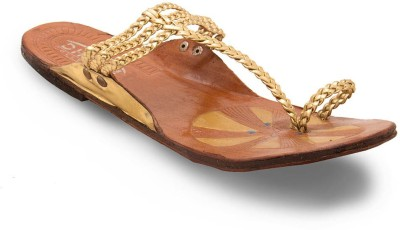 Little India Women Gold Flats
