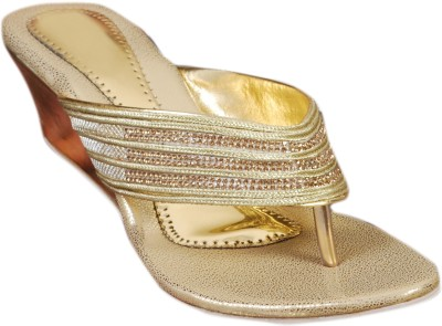 Styleon India Women Gold Wedges