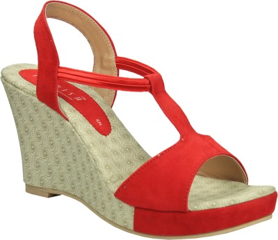 Florish Women Red Wedges