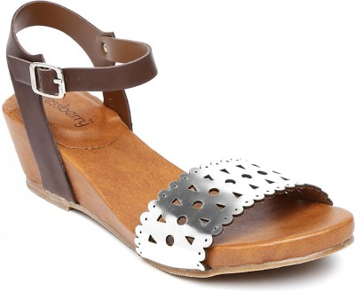 Dressberry Women Silver Heels at flipkart