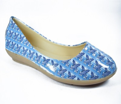 Multi Movin Girls Blue Flats